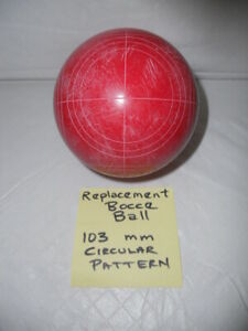 Franklin Bocce Ball Replacement Circular Pattern 103 mm - Red - 40 + oz.