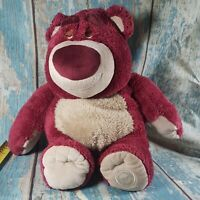 "Disney Toy Story Large 14"" Lotso Bear Soft Toy Strawberry Smells Plush"