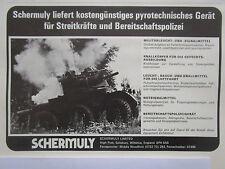 2/1976 PUB SCHERMULY SIMFIRE SOLARTRON ALVIS SALADIN ARTIFICES ORDRE GERMAN AD