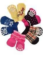 Dog Puppy Anti-Slip Socks - For Tiny & Small Breeds - Choose Design & Size