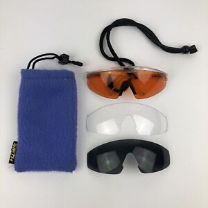 Smith Shield Sport Cycle Vintage Wrap Around Sunglasses Multi Changeable Lenses