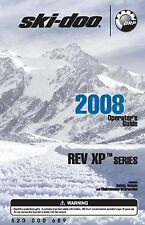 Ski-Doo owners manual book 2008 Rev XP Series GSX Sport, MX Z TNT & MX Z Trail