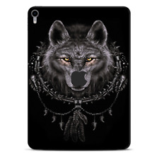 Skins Decal Wrap for Apple iPad Pro 11 2018 Wolf dreamcatcher back white