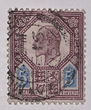 Travelstamps: 1902 Great Britian Scott # 134 5d Edward VII Used Ng