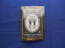 Vintage United In Love Wedding Date Cross Stitch Kit Paragon NIP