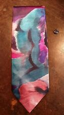 KETCH PINK PURPLE ABSTRACT ARTISTIC DESIGNER MENS NECKTIE FREE SHIPPING