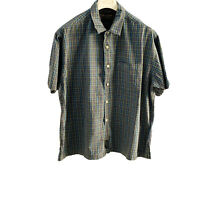 ABERCROMBIE&FITSH SHIRT SIZE L BLUE  BUTTON UP SHORT SLEEVE MADE IN MAURITIUS