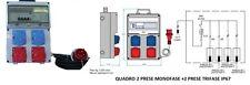 Quadro Elettrico da Cantiere-2 prese Monofase+2 preseTrifase16A IP67+Certificato