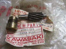 KAWASAKI N.O.S SPEEDO DRIVE PINION & BUSH S1 S2 A1 A7 Z400 41060-007 & 41062-003