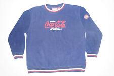 Coca-Cola Classic Coke Sode Fleece Sweater Sweat Shirt Blue Size Medium Med M