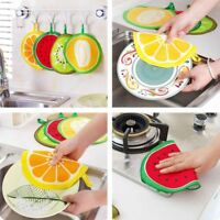 Cute Fruit Small Hand Towel Kitchen Hanging Bathroom Cleaning-Cloth Rag Wipe