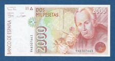 ESPAÑA // SPAIN -- 2000 PESETAS ( 1992 ) -- aXF -- SERIE DE SUSTITUCION 9A .