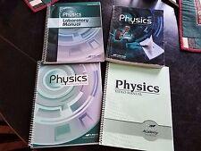 ABEKA  A BEKA Physics Student Text Teacher Edition Video Manual Lot of 4