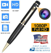 Mini Hidden Spy Camera Pen HD 1080P Video Recorder Clip On Body Portable Cam