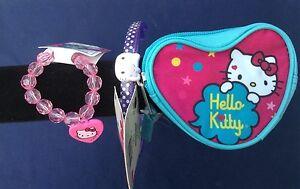 Accessories Hello Kitty Bracelet Coin Purse & Headbands Lot Of 4 Sanrio Items