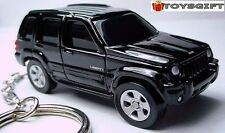 RARE KEY CHAIN 05~2006~2007~2008 BLACK JEEP LIBERTY (CHEROKEE) LIMITED EDITION R
