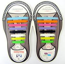 16 x facile No Tie Scarpa Elastica Pizzo Scarpe Da Ginnastica in silicone Adulto Bambino Lacci delle Scarpe