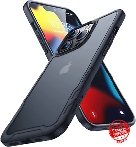 Case for iPhone 13 Pro Slim Fit Translucent Hard Back Soft Silicone Bumper Cover