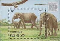 Laos Block119 (kompl.Ausg.) postfrisch 1987 Elefanten