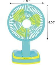 Mini Small Rechargeable Battery Table Fan Cooling Portable Desktop LED Light