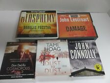 Lot of 5 Audiobooks on CDs -  fiction, category - mysteries  & thrillers #201