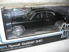 1971 PLYMOUTH DUSTER 340 BLACK ELITE  ERTL SERIALIZED (#195 OF 500) 1:18 RARE!