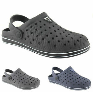 MENS SUMMER CASUAL WORK BEACH HOLIDAY POOL SANDALS SLIP ON SHOES GARDEN CLOGS