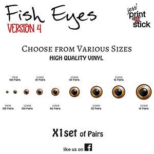 Fish Eyes - Version 4 - Fishing Lure EYE sets Various Sizings