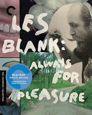 Les Blank: Always for Pleasure (Blu-ray Disc, 2014, 3-Disc Set, Criterion...