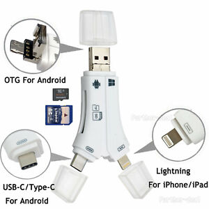 USB Flash Drive TF SD Card Reader for IOS iPhone Macbook iPad Type-C OTG Android
