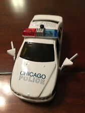 Fun Stuff Light Blue Pullback toy Car Police Chicago Force Cop Department toy
