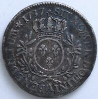 FRANCE LOUIS XV ECU AUX BRANCHES D'OLIVIER 1737 A