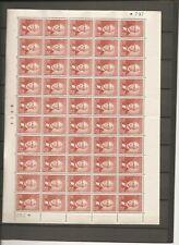 DENMARK - Full sheet (50) with fold AFA#305 with variant x