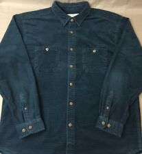 The Territory Ahead Corduroy Waffle Shirt Blue Mens XL Extra Large