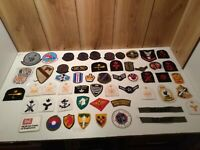 Large lot of  55 vintage obsolete military patch some rare fighter pilot patches
