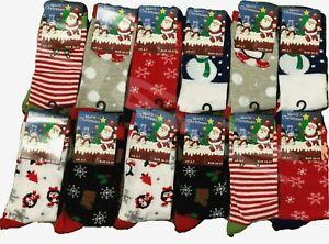 6 Pairs of CHRISTMAS Socks for Ladies Novelty Stocking Filler Xmas Gift