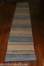 Gorgeous Antique Swedish Hand Made Rag Rug (24. 5 x 148 inches)