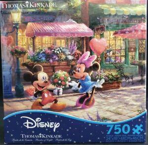 Thomas Kinkade Mickey and Minnie Sweetheart Cafe 750 Piece Ceaco Puzzle