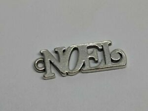 RETIRED James Avery Sterling Silver NOEL Charm FREE SHIPPING