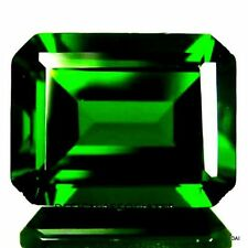 CHROME DIOPSIDE 8X6 MM EMERALD CUT   RUSSIAN GREEN COLLECTOR STONE