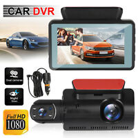 "3"" HD 1080P Dual Lens Dash Cam  Car DVR Front Inside Camera Video Recorder 170°"