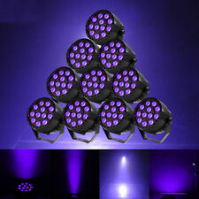 10PCS 12LED UV BlackLight Stage Lighting DMX Par Can Disco DJ Halloween Light