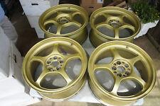 """JDM 17"""" Rays Gramlights 57C wheels pcd100x5 sti forgdb gda gf8 st205 Impreza GC8"""