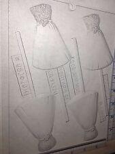 BALL GOWN WEDDING DRESS LOLLIPOP CLEAR PLASTIC CHOCOLATE CANDY MOLD W083