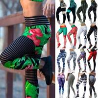 Womens High Waist Yoga Leggings Fitness Pants Sports Gym Running Workout Stretch