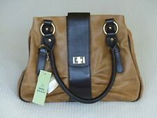 Tommy & Kate Tan and Brown Leather Handbag Brand New With Tags
