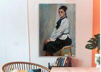 Girl portrait, portrait painting, vintage painting, oil painting, impressionism