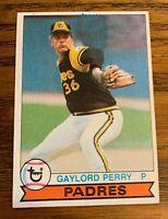 1979 TOPPS #321 GAYLORD PERRY INK Bleed Error Rare -  PADRES HOF