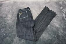 Virgin Only Womens Elastic Waist Lace-Up Accent Jeans Dark Wash Size 9 Blue