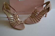 Bandolino Magei Womens LIGHT Pink Open Toe Heels SANDALS PUMPS SHOE SZ 8.5 M NEW